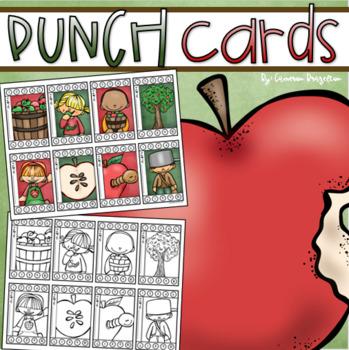 Behavior Incentive Punch Cards Classroom Management Rewards Apple Theme