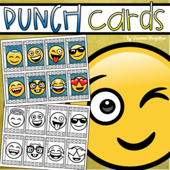 Behavior Incentive Punch Cards Classroom Management Rewards Emoji Smiley Face