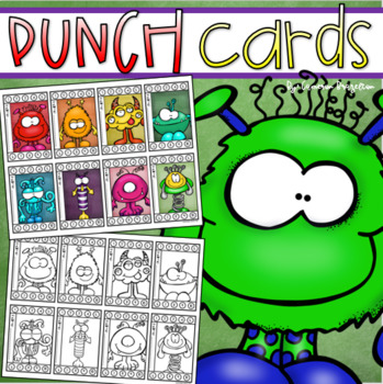 Behavior Incentive Punch Cards Classroom Management Rewards Monster Theme