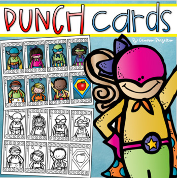 Behavior Incentive Punch Cards Classroom Management Rewards Superhero Theme