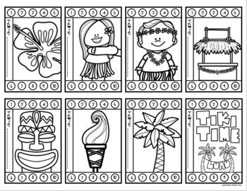 Behavior Incentive Punch Cards Classroom Management Rewards Tropical Tiki Luau