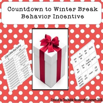 Behavior Incentive Countdown to Winter Break