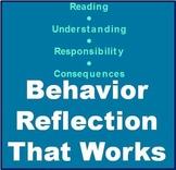 Behavior Incident Reflection and Discipline Form for Students