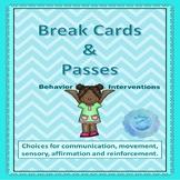 Behavior Intervention - Break Cards & Passes
