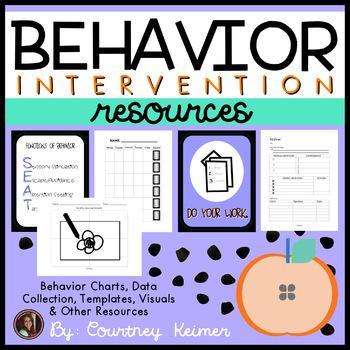 Behavior Intervention Bundle {Charts, Data Collection, Templates & More}