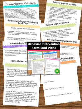Behavior Intervention Toolkit for RTI