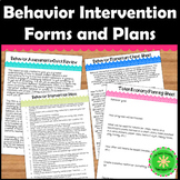 Behavior Interventions and Editable Forms