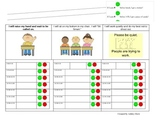 Behavior Intervention Chart-Fill in Your Own Schedule