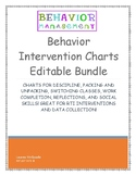 Behavior Intervention Charts- Growing Bundle