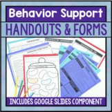 Behavior Reflection Sheets, Forms, And Intervention Tip Sheets