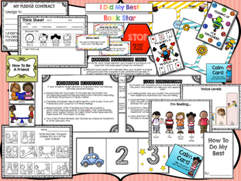 Behavior Intervention Pack with Behavior Charts, Behavior Incentives, and More!