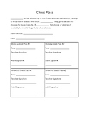 Behavior Intervention Passes and Signs