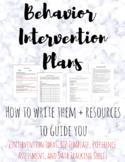 Behavior Intervention Plan Template [BIP] + Intervention Ideas, Data Tracking