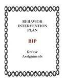 Behavior Intervention Plan BIP Won't do Assignments