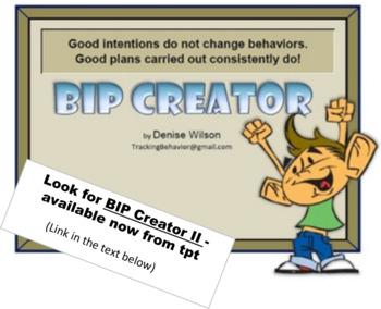 Behavior Intervention Plan | Behavior Intervention Plan Creator By Denise Wilson Tpt