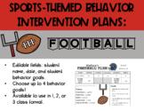 Behavior Intervention Plan - Football Themed