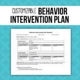 Behavior Intervention Plan Template (B.I.P)