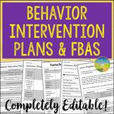 Behavior Intervention Plans and FBAs