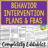 Behavior Intervention Plans and FBAs