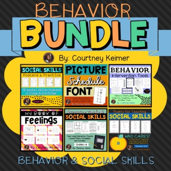 Behavior Intervention & Social Skills Bundle + Interactive Journal