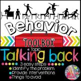 Behavior Intervention Toolbox: TALKING BACK