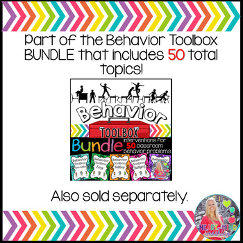 Behavior Intervention Toolbox: UNPREPARED