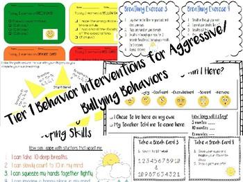 Behavior Interventions Bundle! For Aggressive/Bully Behaviors