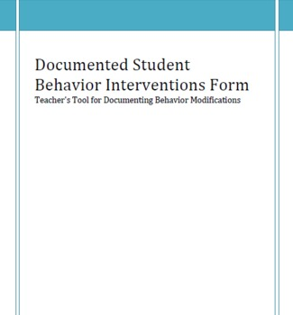 Behavior Interventions Documentation Form