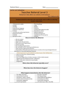 Behavior Interventions for the Classroom Tier One Rti