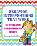 Behavior Interventions that Work