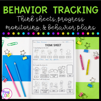 Behavior Interventions:Contracts, Tracking Sheets, Think Sheets- Perfect for RTI