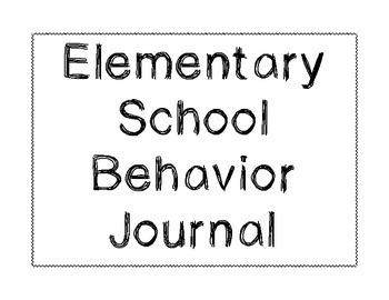 Behavior Journal