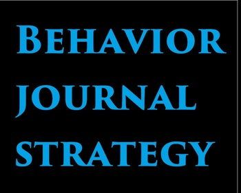 Behavior Journal Strategy
