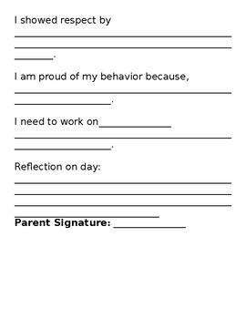 Behavior Journal reflection