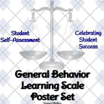 General Behavior Learning Scale Poster Set--Trophy/Award Theme