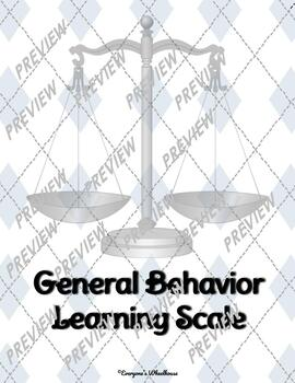 General Behavior Learning Scale Poster/Slide Set Trophy/Award Theme