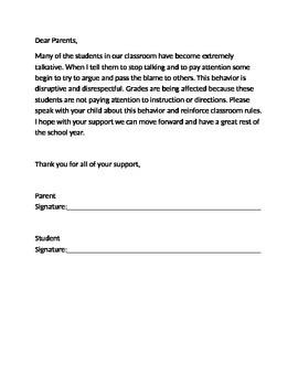 Behavior Letter