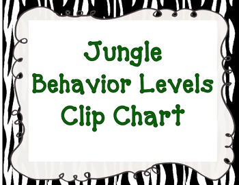 Behavior Levels Clip Chart Jungle Theme