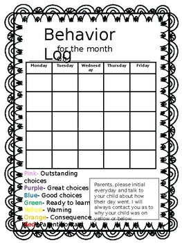 Behavior Log