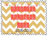 Behavior Log Calendar 2016-2017