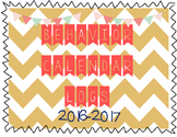 Behavior Log Calendar 2016-2017