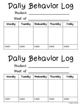 Behavior Log {Freebie}