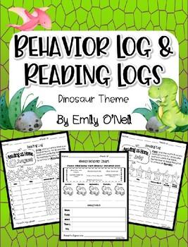 Behavior Log & Reading Logs (Dinosaur Theme)