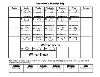 Behavior Log Sept.-June