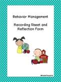 Behavior Log and Reflection Form