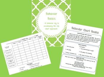 Behavior Log to Accompany Clip Chart Behavior System