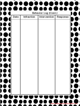 Behavior Log with Goal-Setting