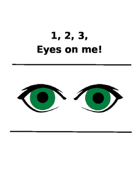 Behavior Management - 1, 2, 3, Eyes on me!