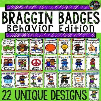 Behavior Management Braggin Badges {Brag Tags}