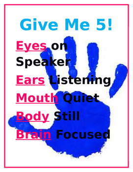 Give Me 5 - Behavior Management